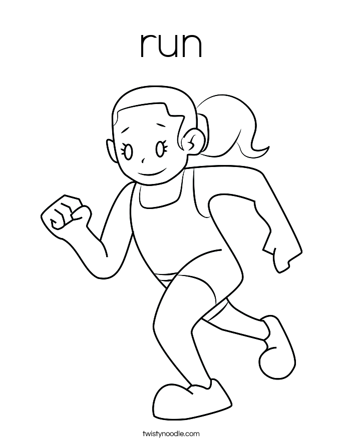 running a race coloring pages - photo#2