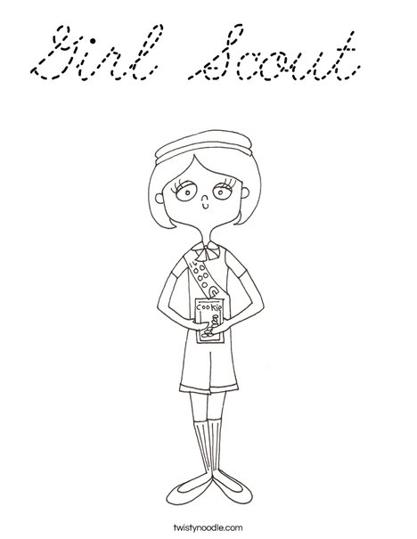 Girl Scout Coloring Page