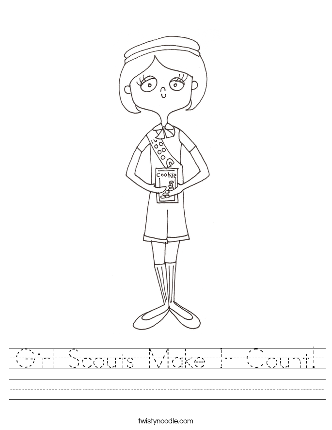 Girl Scouts Make It Count! Worksheet