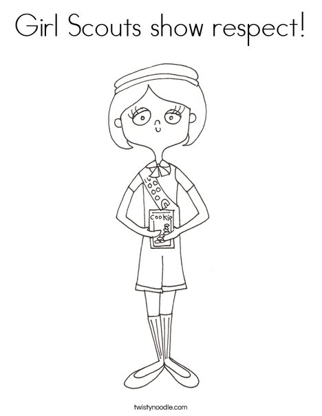 Girl Scouts Show Respect Coloring Page Twisty Noodle