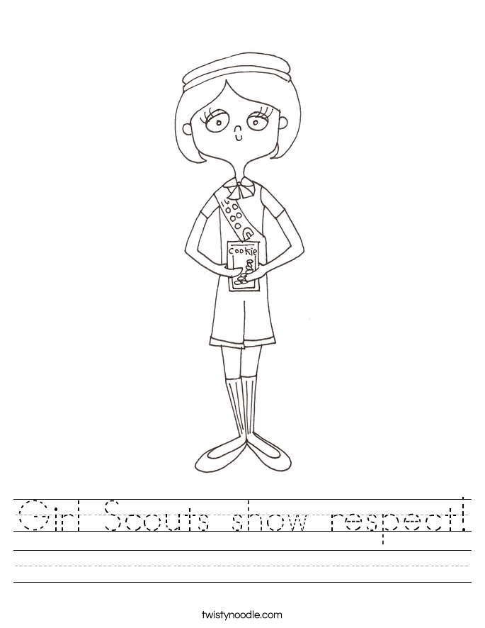 Girl Scouts show respect! Worksheet