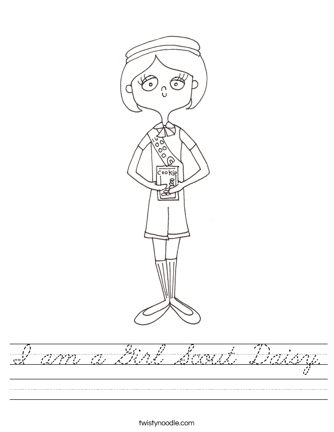 I am a Girl Scout Daisy. Worksheet