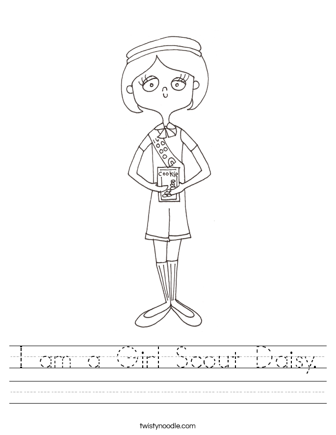 I am a Girl Scout Daisy Worksheet Twisty Noodle – Respect Worksheets