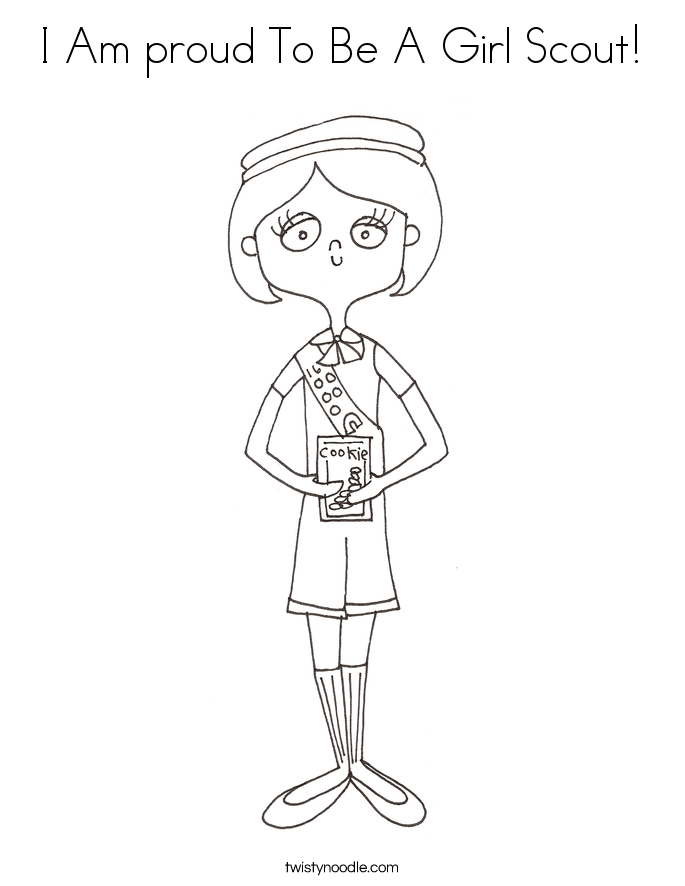 I Am proud To Be A Girl Scout! Coloring Page