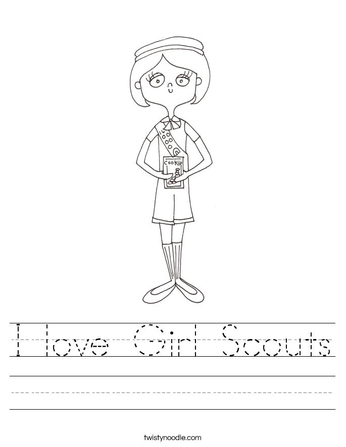 I love Girl Scouts Worksheet