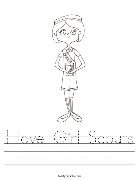 Girl Scout Worksheet