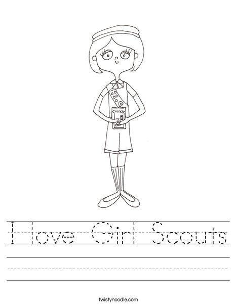 Girl Scout Worksheet