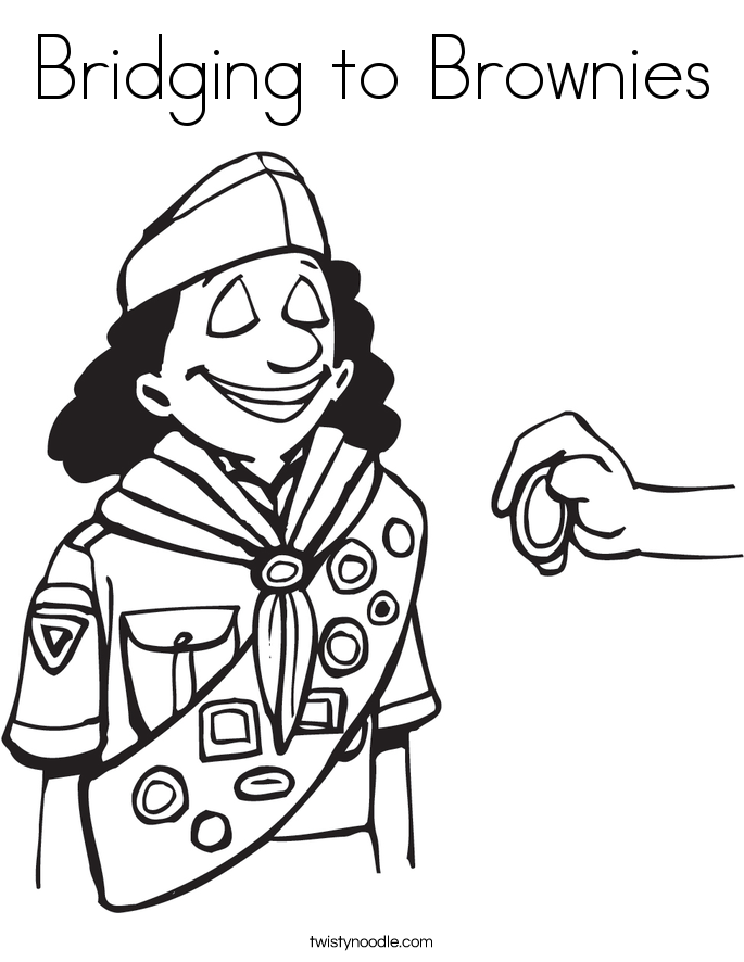 Bridging to Brownies Coloring Page
