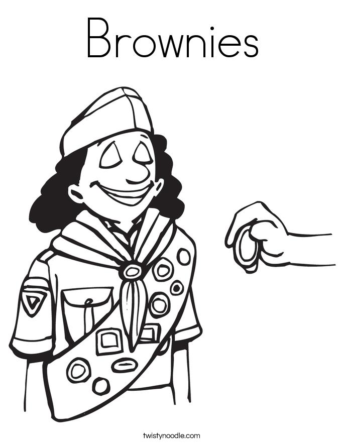 Brownies Coloring Page