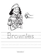 Brownies Handwriting Sheet