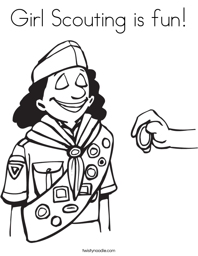 Girl Scouting is fun! Coloring Page
