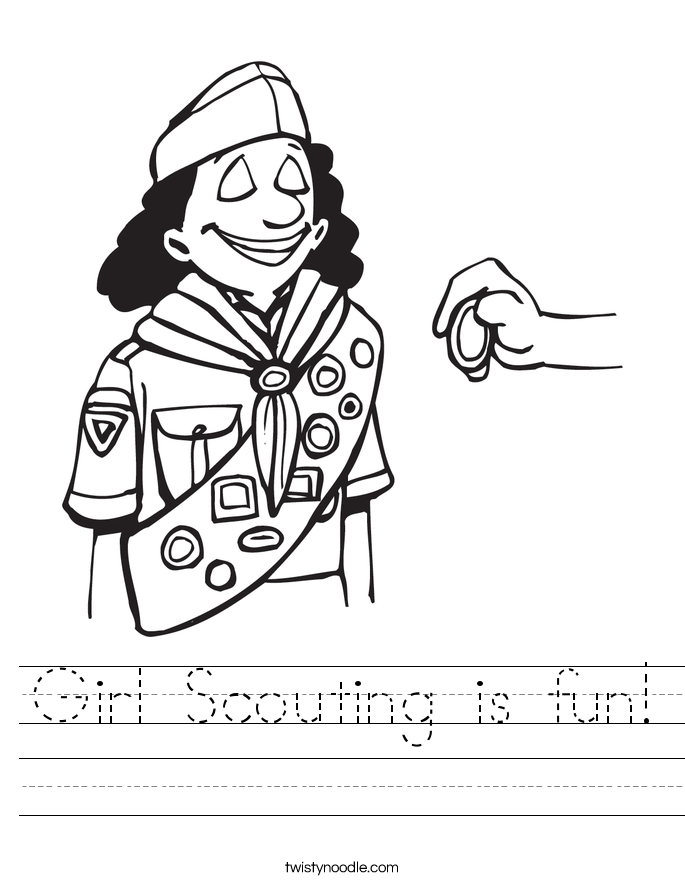 Girl Scouting is fun! Worksheet