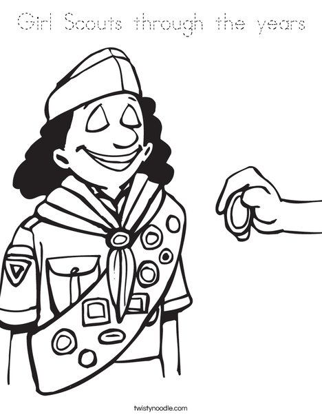 Brownie Coloring Page
