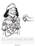 Girl Scouts through the years Worksheet