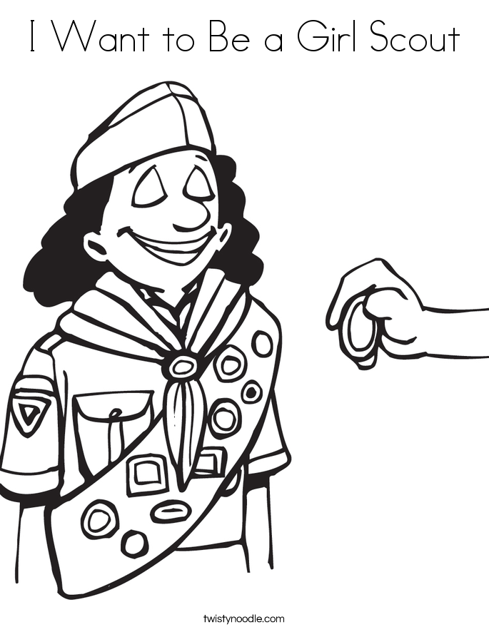 I Want to Be a Girl Scout Coloring Page