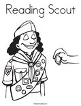 Reading Scout Coloring Page