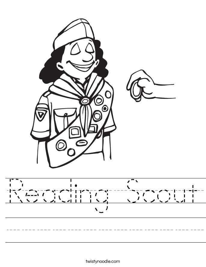 Reading Scout Worksheet