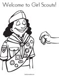 Welcome to Girl Scouts! Coloring Page