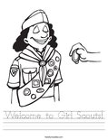 Welcome to Girl Scouts! Worksheet