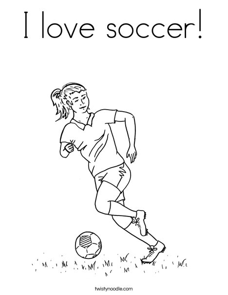I love soccer Coloring Page - Twisty Noodle