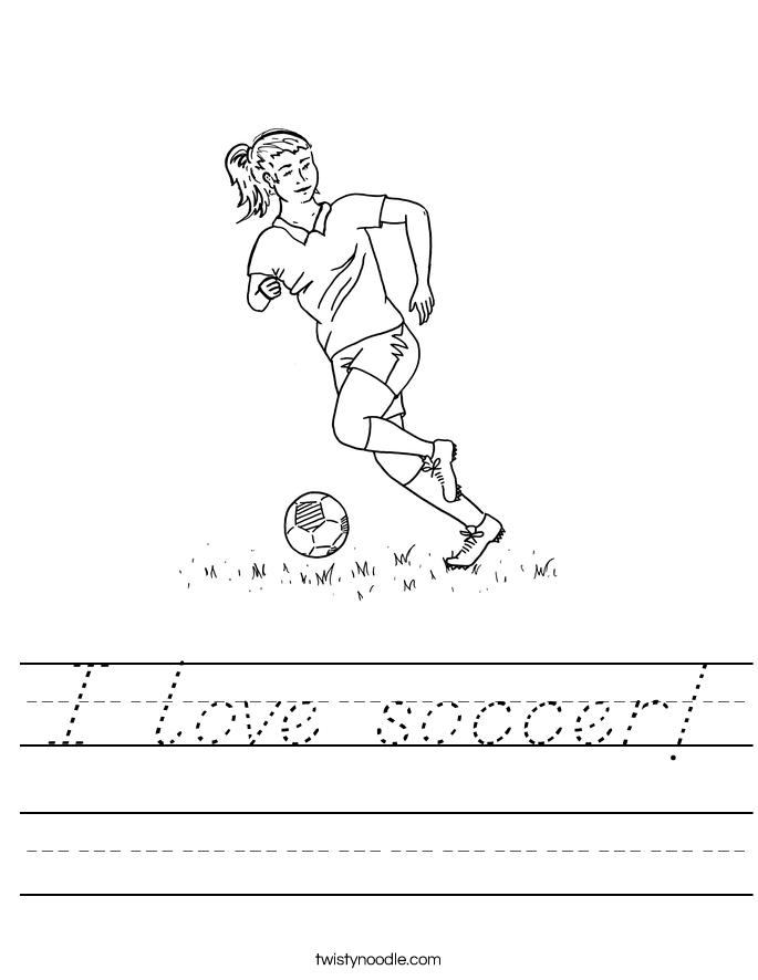 I love soccer! Worksheet