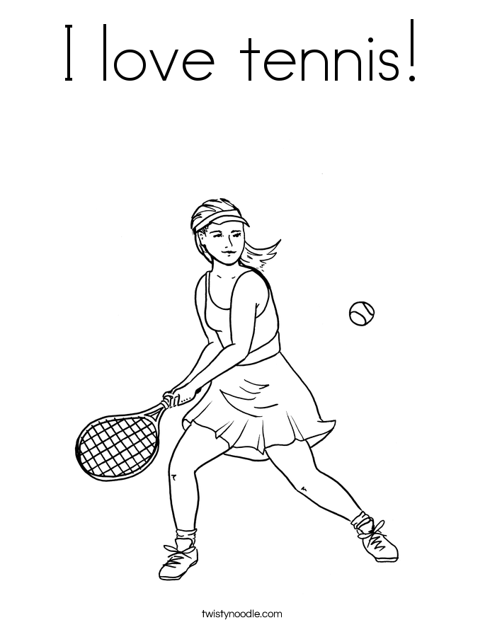 I love tennis! Coloring Page