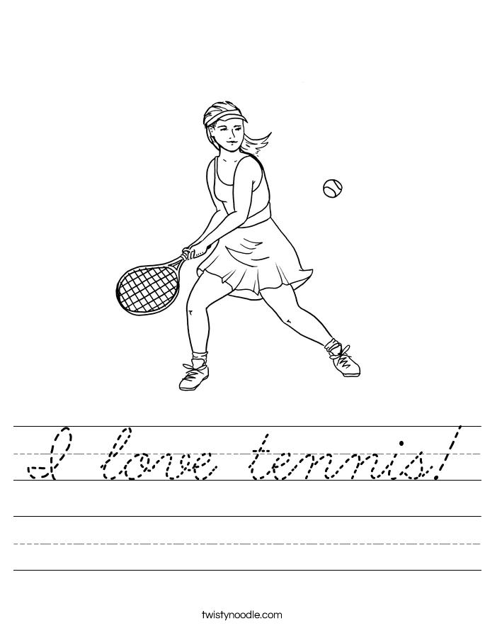 I love tennis! Worksheet