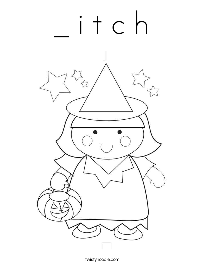 _ i t c h Coloring Page