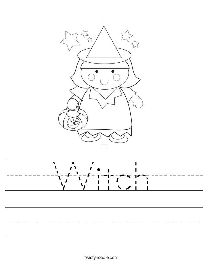 Witch Worksheet Twisty Noodle