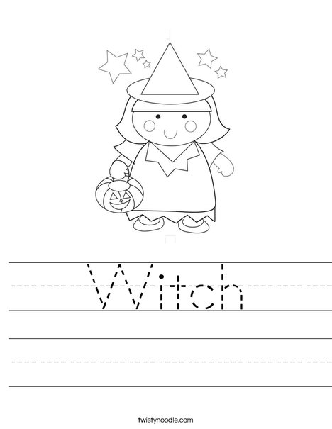 Girl Witch Worksheet