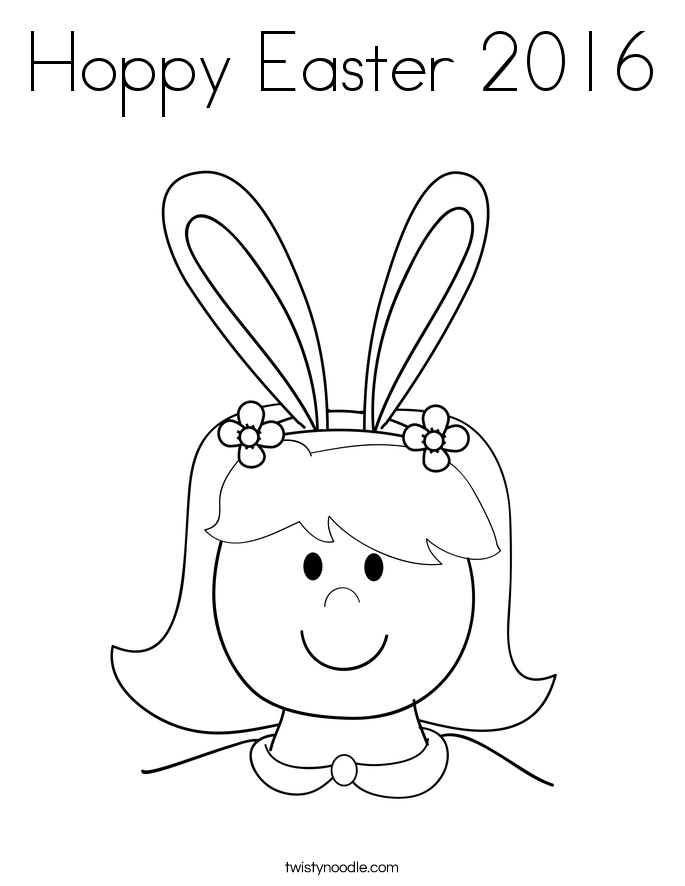 Hoppy Easter 2016 Coloring Page