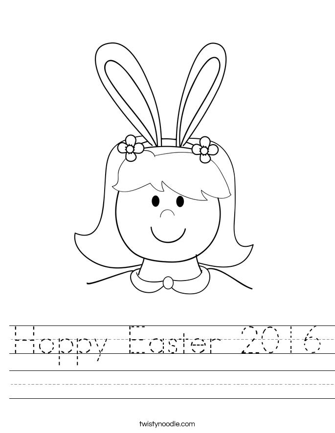 Hoppy Easter 2016 Worksheet