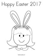 Hoppy Easter 2017 Coloring Page