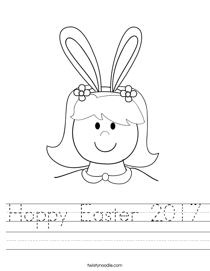 Hoppy Easter 2017 Worksheet