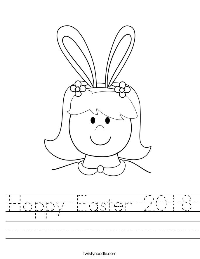 Hoppy Easter 2018 Worksheet