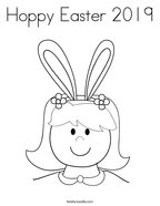 Hoppy Easter 2019 Coloring Page