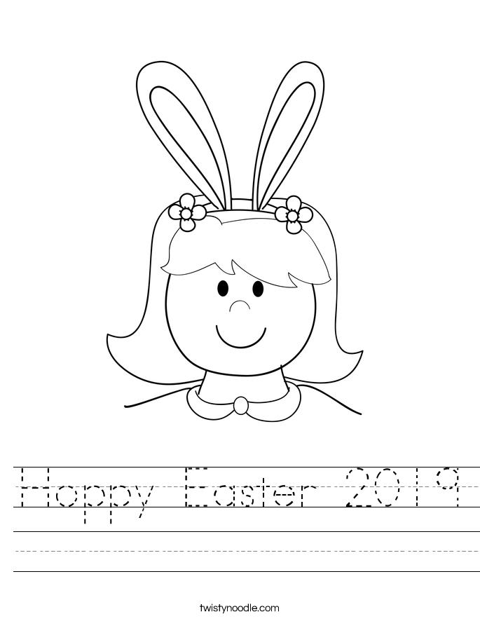 Hoppy Easter 2019 Worksheet