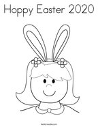 Hoppy Easter 2020 Coloring Page