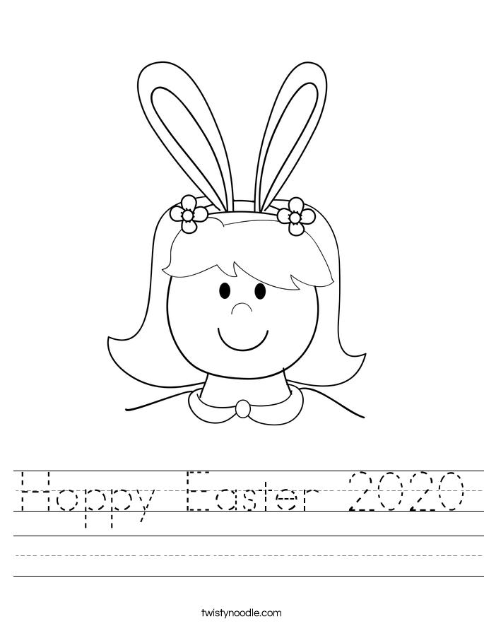 Hoppy Easter 2020 Worksheet