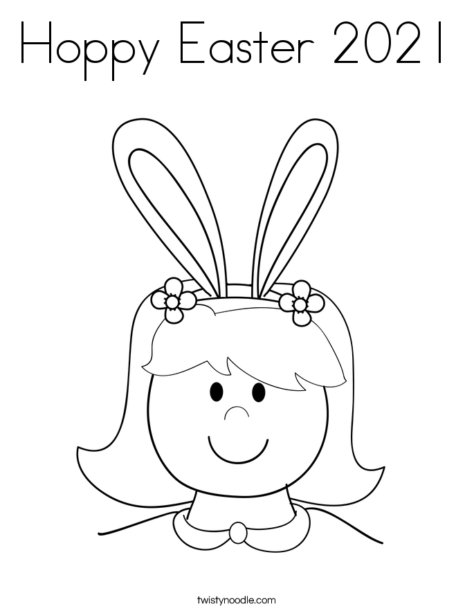 Hoppy Easter 2021 Coloring Page