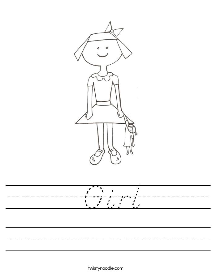 Girl Worksheet