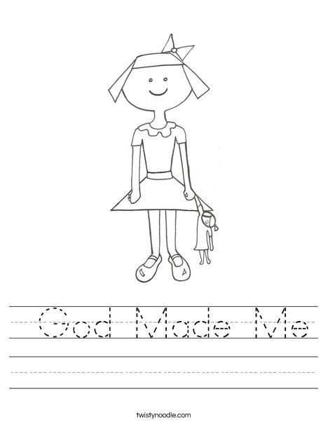 God Made Me Worksheet - Twisty Noodle