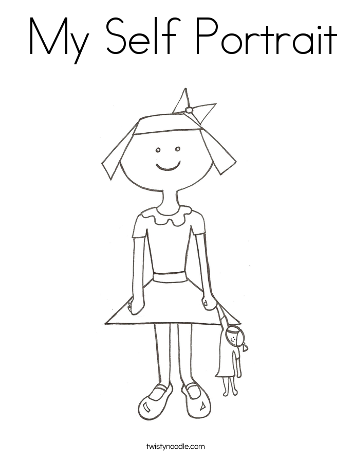 My Self Portrait Coloring Page