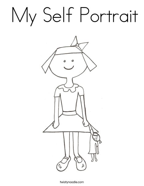 Girl with Doll Coloring Page