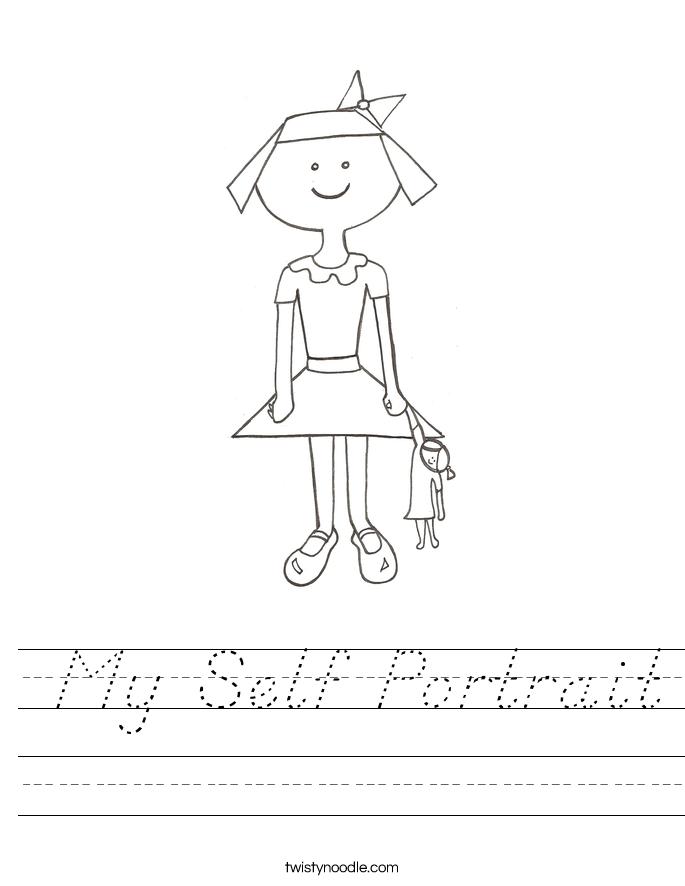 My Self Portrait Worksheet