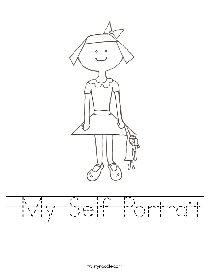 My Self Portrait Worksheet