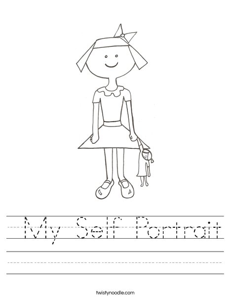 Self-Portrait Templates by KinderIrick | Teachers Pay Teachers
