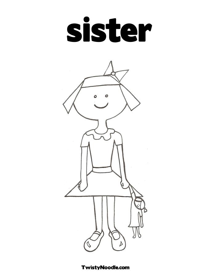 sister coloring pages for kids - photo #6