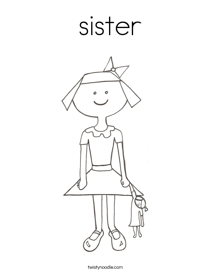 sisters coloring pages - photo#36