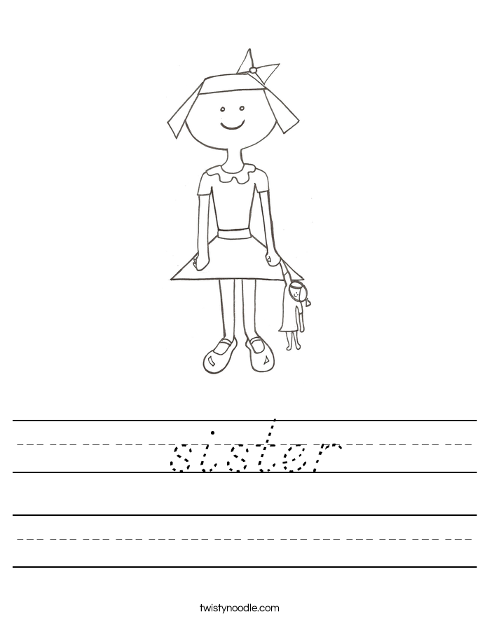 sister Worksheet